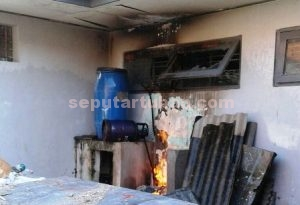 BERUNTUNG : Inilah lokasi kebakaran di Lapas Tuban