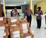 SIAGA : Dokumen UN saat di Gedung Serbaguna Mapolres Tuban