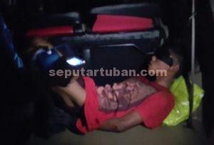 MAHIR : Tersangka saat diamankan usai ditangkap saat pelarian mengendarai sepeda motor curianya