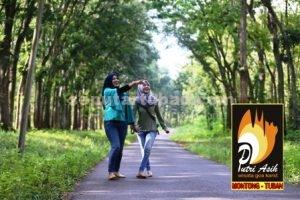 HIJAU : Menuju wisata Goa Putri Asih masih nampak hijau