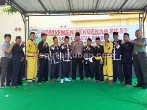 Komitmen Pendekar Kecamatan Rengel menjaga Kamtibmas selama Ramadhan saat di Mapolsek Rengel
