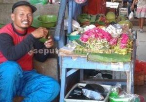 Penjual bunga tabur