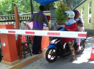 SETENGAH JALAN : Parkir elektrik Pasar Baru Tuban masih dilakukan uji coba