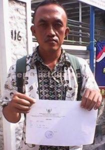 GERAM : Abu Nasir usai melapor ke Ombudsman Jatim mendapatkan bukti laporan