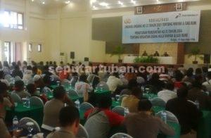 AMANKAN ASET : Sosialisasi yang dilakukan Pertamina EP untuk memberikan pemahaman tentang usaha minyak mentah dari sumur tua di Kabupaten Tuban