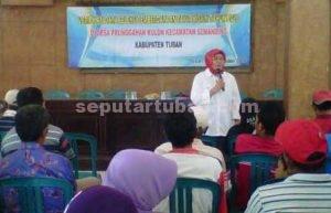 BANSOS : Acara verifikasi data penerima bantuan kambing di Balai Desa Prunggahan Kulon