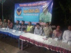 LINTAS SEKTOR : Dalam reses yang dilakukan Anggota DPRD Tuban, Ilham Azka dihadiri masyarakat dan tokoh lintas sektor serta lintas instansi