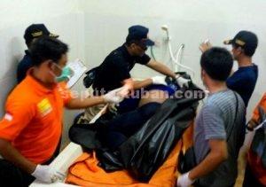 TERIDENTIFIKASI : Jasad korban di kamar jenazah RSUD Dr R Koesma Tuban