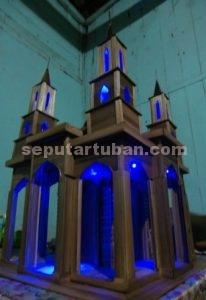 MENARIK : Miniatur masjid modern lengkap dengan lampu siap jual