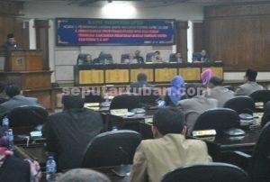 OPTIMALKAN KINERJA : Fraksi di DPRD Tuban mendesak kinerja SKPD Pemkab Tuban lebih dimaksimalkan