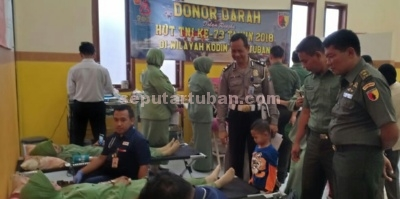 Donor darah Kodim 0811 Tuban