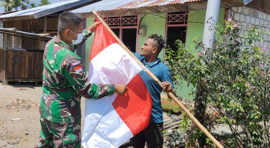 Merah Putih Berkibar di Perbatasan Indonesia-Papua Nugini (1)